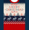 ugly sweater merry christmas greeting card vector image vector image