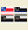 us flags set vector image