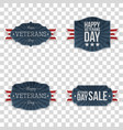veterans day emblems set vector image vector image