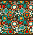 vintage abstract seamless pattern with round vector image vector image