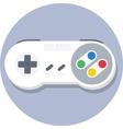Vintage super nintendo SNES gamepad flat icon vector image