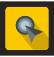 Work with cursor icon flat style vector image vector image