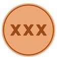 xxx bronze coin vector image