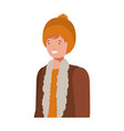 young man with winter clothes avatar character vector image