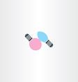 light bulb logo symbol element vector image