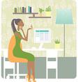 woman working vector image