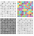 100 support network icons set variant vector image vector image