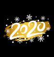 2020 happy new year with gold glitter effect vector image