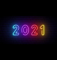 2021 neon signboard bright colorful sign festive vector image vector image