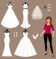 a set of wedding dresses the choice vector image