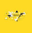 abstract blobs and geometric shapes on a yellow vector image