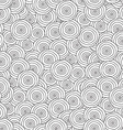 abstract monochrome circles seamless pattern vector image vector image