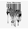 Abstract zebra silhouette with barcode vector | Price: 1 Credit (USD $1)