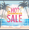 advertisement about the summer sale on background