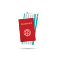 air ticket with passport vector image vector image