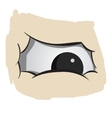 Angry fat eyes vector image vector image
