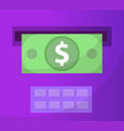 atm gives out money icon flat design atm vector image