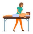 back spine masseur icon cartoon style vector image vector image