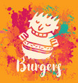 banner for burger on the abstract background vector image vector image