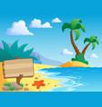 beach theme scenery 2 vector image vector image
