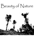 beauty of Nature with landscape scenery with trees vector image vector image