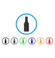 beer bottle rounded icon vector image