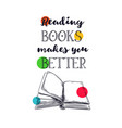books hand drawn poster 3 vector image