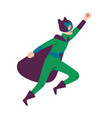boy wearing colorful costume superhero vector image vector image