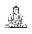 buddha statue hand drawn icon vector image
