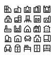 Buildings and Furniture Icons 5 vector image vector image
