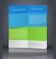 business flyer template or banner design vector image
