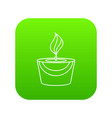 candle icon green vector image vector image