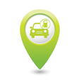 car with gas station icon map pointer green vector image vector image