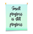 card with text small progress is still progress vector image vector image