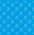 chicken leg pattern seamless blue vector image vector image