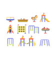 child playground objects flat vector image