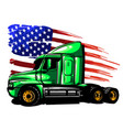 classic american truck vector image