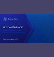 conference template abstract dotted blue vector image vector image