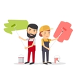 Couple of house painter workers vector image vector image