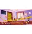 crime scene murder place with yellow police tape vector image vector image