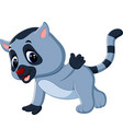 cute lemur cartoon vector image vector image