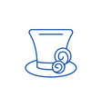 cylinder hat line icon concept cylinder hat flat vector image vector image
