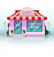 different shop and store icon vector image vector image