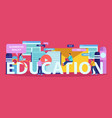 education flat doodle composition vector image vector image