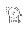 fire alarm school bell line icon vector image vector image