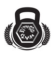 fitness center logo modern sport gym club sign vector image vector image