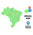 gears brazil map composition vector image