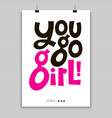 girl power quotes vector image