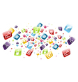 Global mobile phone apps icons splash vector image vector image