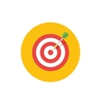 Goal Icon Target symbol in flat style - round vector image